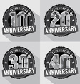 Set of Anniversary Celebration Design vector image
