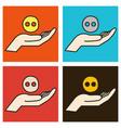set of unusual look web icon of modern social vector image vector image