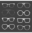 set of white sunglasses frames vector image vector image