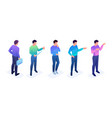 set of young boys with gestures and emotions vector image