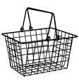 Shopping basket vector image vector image