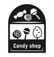 street candy shop icon simple style vector image