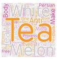 Tea How Is White Persian Melon Tea Different From vector image vector image