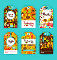 thanksgiving day gift labels vector image vector image