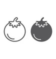 tomato line and glyph icon food and organic vector image vector image