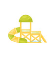 tunnel water slide with small pool fun attraction vector image vector image