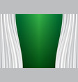 white curtain on green design background vector image vector image