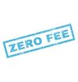 Zero Fee Rubber Stamp vector image vector image
