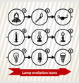 lamp evolution icons vector image
