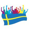 Sweden fans vector image