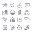 web icon set real estate property realtor real vector image