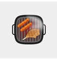 Barbecue grill icon bbq grilled meat steak vector image