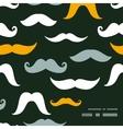 Fun silhouette mustaches frame corner pattern vector image