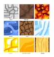 Seamless Game Patterns Set vector image
