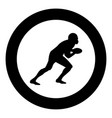 american football player icon black color in vector image vector image