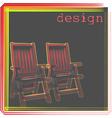 Armchair design vector image