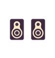 audio speakers on white flat design vector image vector image
