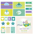 Baby Bear on a Plane - for Birthday Baby vector image vector image