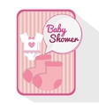 Baby cloth of baby shower card design vector image vector image