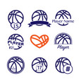 basketball player name number vector image vector image