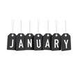 black january tags vector image vector image