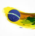 brazil flag abstract background vector image