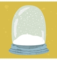 Bright of hand drawn snow globe vector image vector image