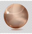 Brown transparent glass sphere vector image vector image