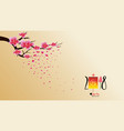 chinese new year 2018 with blossom wallpapers vector image vector image