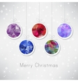 Christmas balls with triangle filling vector image vector image