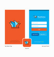 company sydney splash screen and login page vector image vector image