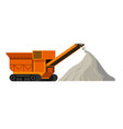 construction site machinery and materials vector image