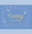cooking icons design set vector image vector image