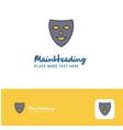 creative mask logo design flat color logo place vector image vector image