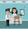 doctors office cartoon vector image