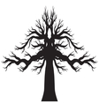 drawing of the tree vector image vector image