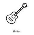 electric music guitar vector image vector image