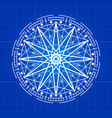 esoteric mystery sign line on blue backdrop vector image vector image