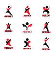 excited abstract person with raised hands up vector image vector image