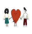 flat happy loving couple isolated on white vector image