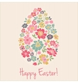 Floral card for Easter day Happy Easter greeting vector image vector image