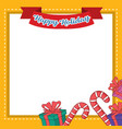 frame of christmas style collection vector image