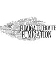 fumigate word cloud concept vector image vector image