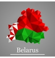 Geometric map of Belarus vector image vector image