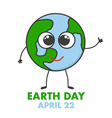 go green save planet fun cute happy character vector image