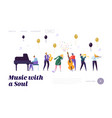 group musician artists popular jazz band vector image vector image
