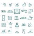 hand drawn home renovation icons set screwdriver vector image