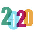 happy new year greeting card with number 2020 vector image vector image