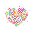 heart dot icon color dot vector image
