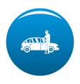 hijacker icon blue vector image vector image